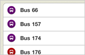 Bus services and arrival times